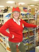 A happy Tesco Express elf in Eaton Socon - December 9th 2013