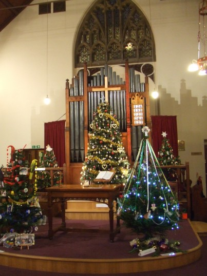 Christmas Tree Festival in the United Reformed Church - 7th December 2013