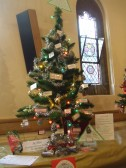 Christmas tree by Actios - in the festival in the United Reformed Church - 7th December 2013