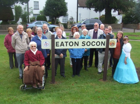 Eaton Socon Festival of Britain Village sign unveiling 18th September 2013