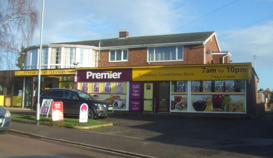 Eynesbury Convenience Stores - now with its sign - January 13th 2014