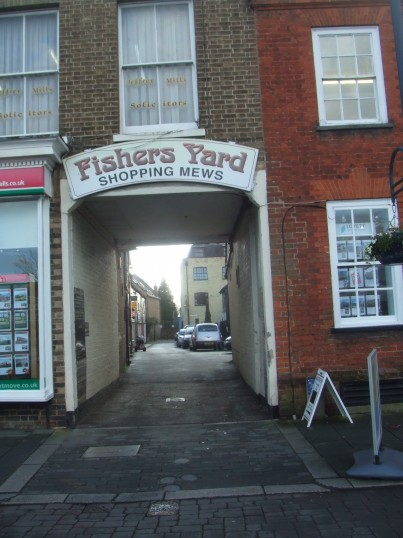 Fishers Yard entrance Jan 16th 2014