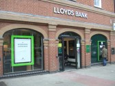 Lloyds Bank, St Neots - open again after its refurbishment - September 20th 2013