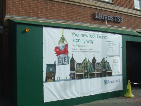 Lloyds bank closure Aug 30th 2013