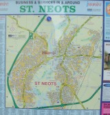 Map of St Neots outside the Library - July 30th 2013
