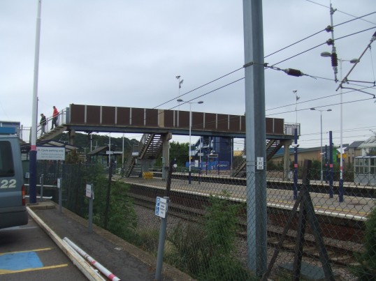 Railway Bridge from the south - the new blue bridge can be seen on the far side - September 21st 2013