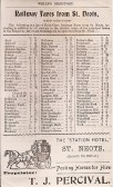 Rail Fares from St Neots 1901 from Wells Directory