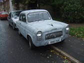An old car seen in Crosshall Road - 19th October 2013