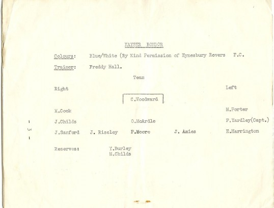 St Neots Carnival 1958 Ladies Football Tournament, page 4 of the programme