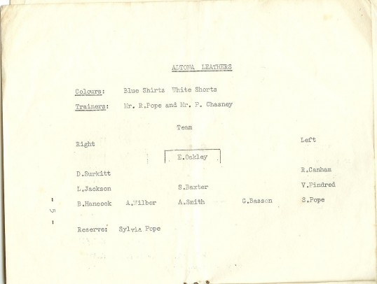 St Neots Carnival 1958 Ladies Football Tournament, page 6 of the programme