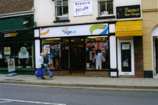 Queens Jubilee Decorations June 2012 – Age UK shop in the High Street (Ann Richards)