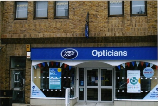 Queens Jubilee Decorations June 2012 – Boots Opticians in the High Street (Ann Richards)