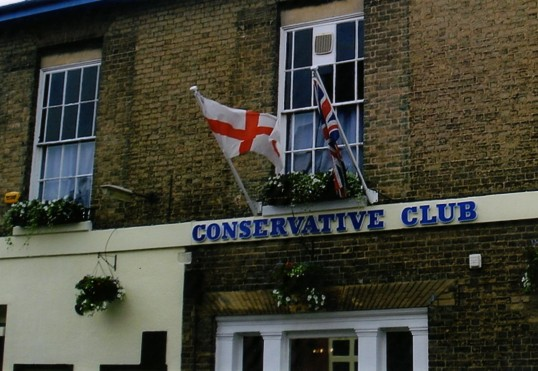 Queens Jubilee Decorations June 2012 – Conservative Club in New Street (Ann Richards)