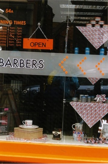 Queens Jubilee Decorations June 2012 – Jagged Edge shop in the Market Square (Ann Richards)