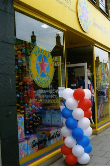 Queens Jubilee Decorations June 2012 – Party Mania in the High Street (Ann Richards)