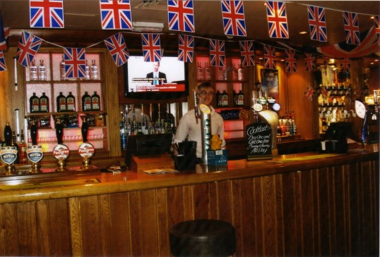 Queens Jubilee Decorations June 2012 – The Priory in the Market Square (Ann Richards)