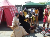 Mediaeval Fayre, some of the re-enactors in St Neots Market Square - 27th July 2013