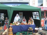 Mediaeval Fayre, St Hugh of Lincoln re-enactors in St Neots Market Square - 27th July 2013