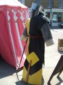Mediaeval Fayre, A knight in the St Neots Market Square - 27th July 2013