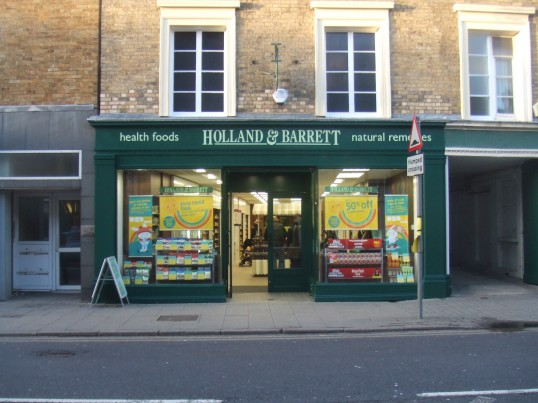 Holland and Barrett shop just opened in St Neots High Street - opened January 29th 2014