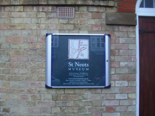 St Neots Museum - new notice put up January 2014