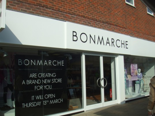 The Bon Marche store in the High Street has had a new sign and is about to re-open