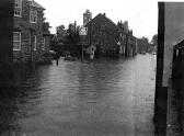 Flooding in Eynesbury August - September 2004 - looking down St Marys Street