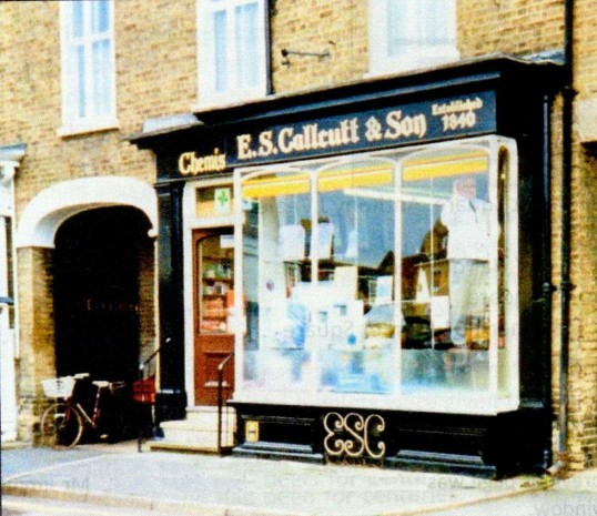 E.S. Calcutt, the chemist in St Neots Market Square for many years