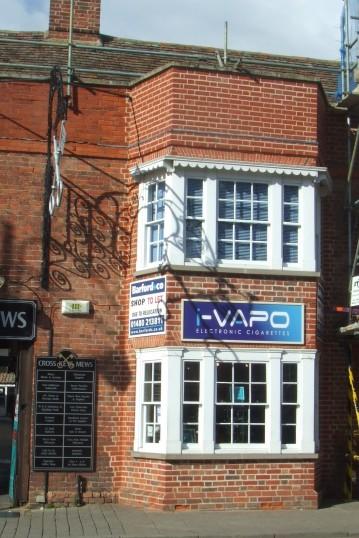i-Vapo shop now open in the former Queen Bee shop in Cross Keys Mews - 23rd March 2014