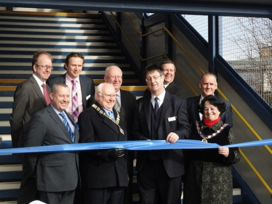 St Neots Rail bridge - the official opening on Wednesday 19th February 2014