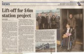 Opening of the new rail foot bridge at St Neots - Hunts Post Feb 26th 2014
