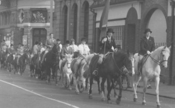 Horse Sunday in St Neots, 19th September 1953 entering the Market Square