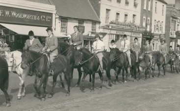 Horse Sunday in St Neots, 19th September 1953 - parade passing Woolworths