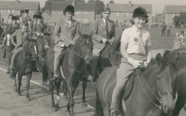 Horse Sunday in St Neots, 19th September 1953 - parade leaving the Common