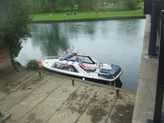 Electric Boat Service on the River Great Ouse 2014