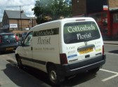 Cottonbuds Florists van in Huntingdon Street - 10th June 2014