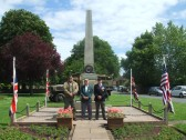 D Day Commemoration - the Eaton Socon British Legion laid a wreath on the War Memorial to remember those who died, on the 70th anniversary of the event.