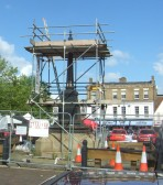 Day Column in St Neots Market Square - the top structure has been removed - 24th May 2014