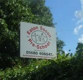 Eaton Socon Pre School sign in Queens Gardens, Eaton Socon - 10th June 2014