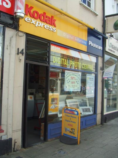 Kodak Shop in St Neots High Street - 10th June 2014