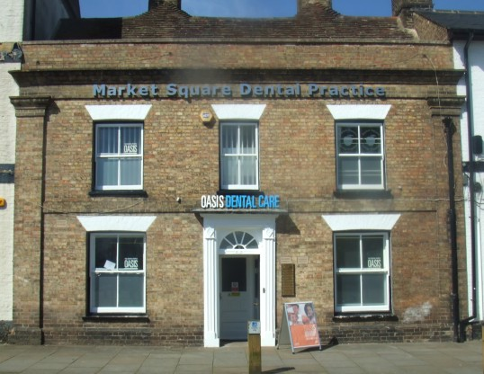 Oasis Dental Care - new sign at the Market Square Dentists - 6th June 2014