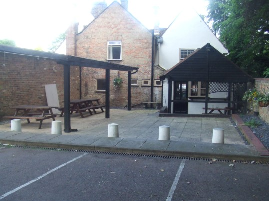 Old Sun in Eaton Socon - new patio area at the back - 10th June 2014
