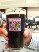 CAMRA real ale glass at St Neots Beer Festival - 13th March 2014