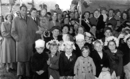 1953 Coronation Day of Elizabeth II -  Leys Road, Harland Road and Lammas Way residents of St Neots