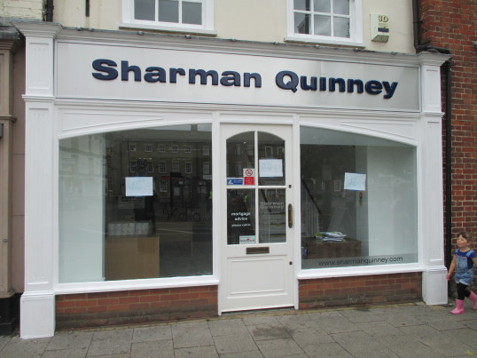 Sharman Quinney Estate Agents - being refurbished July 5th 2014