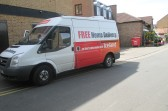 An Iceland van photographed at the back of the shop in Priory Road - 16th June 2014