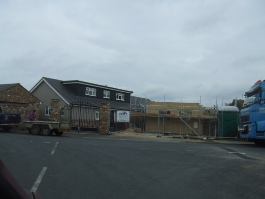 New bungalow in River Road, Eaton Ford, being built - 18th March 2014