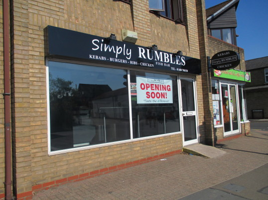 Simply Rumbles Takeaway in Huntingdon Street - June 22nd 2014