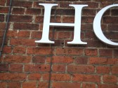 Inscribed bricks on the White Horse in Eaton Socon - photographed 20th Jan 2012