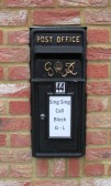 A black post box in Wyboston - 14th June 2014